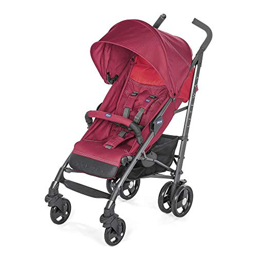 Chicco Liteway 3 - Silla de paseo ligera y compacta, soporta hasta 22kg, color rojo (Red Berry)