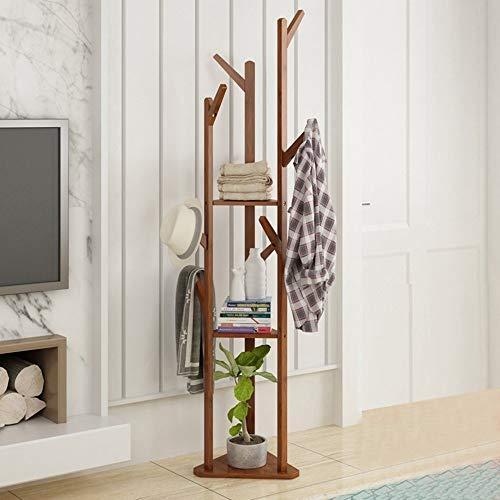 TYTZSM Perchero Piso Esquina Ropa Simple Dormitorio Estante Hogar Ropa Colgante Vertical 38 * 170cm percheros de pie Libre