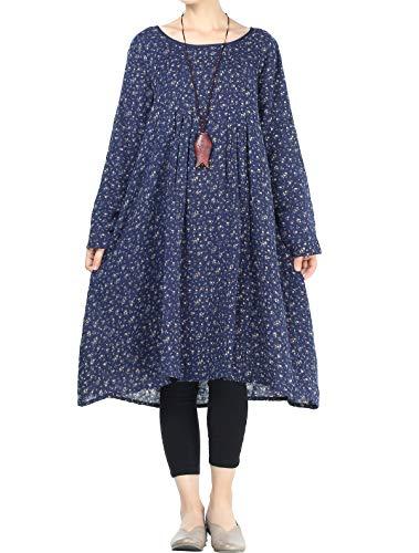 Mallimoda Damska sukienka z długim rękawem tunika
