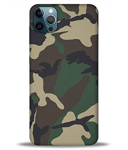 letaps printed colorful army camouflage, defence, army designer back case cover for apple iphone 12 pro (multicolour) - Multi-Coloured