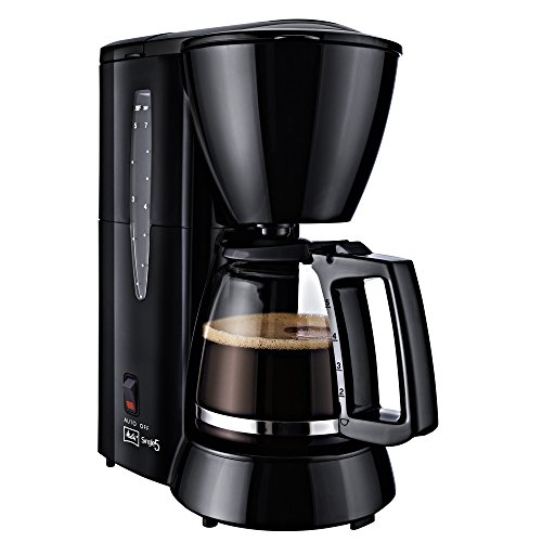 Melitta Cafetera de filtro con jarra de vidrio, Para 5 tazas de café, Single 5, Negro, M720-1/2