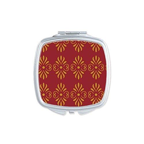 DIYthinker Royaume de Thaïlande Thai coutumes Traditionnelles d'or Rouge Tissage Motif décoratif Satin sanctuaire Illustration carrée Maquillage Compa