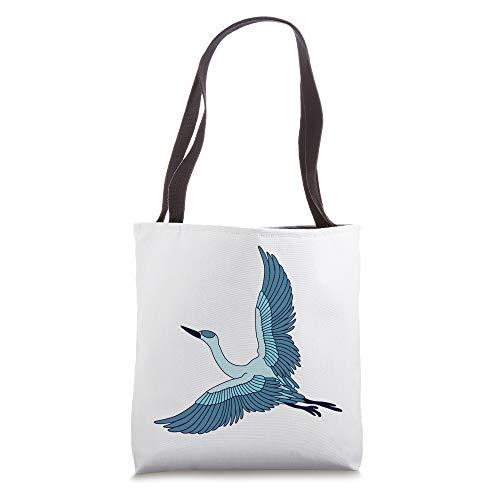 Great Blue Flying Heron Full Flight T-Shirt Ornithologist Tote Bag