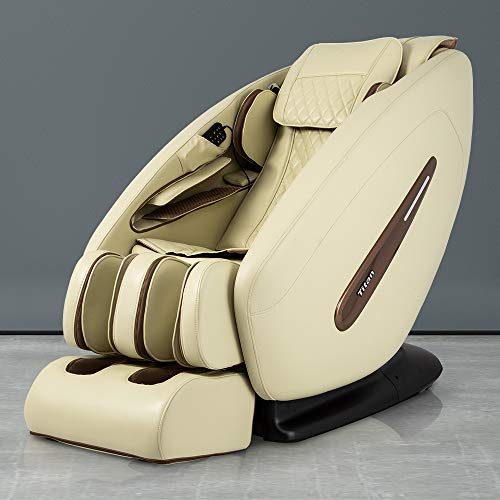 Titan Pro Commander FDA 3D Massage Full Body Massage Recliner Zero Gravity Best Massage Chair Air Compressor Leg Massager (Cream)