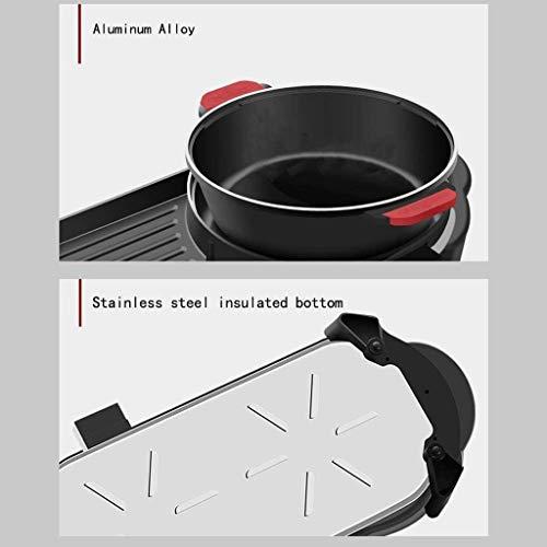 41hoNHTqyHL - CJTMY Hot Pot Barbecue Integrierte Topf, Aluminium-Legierung Material, Elektro Hot Pot Indoor Barbecue-Ofen Hot Pot (mit Teiler)