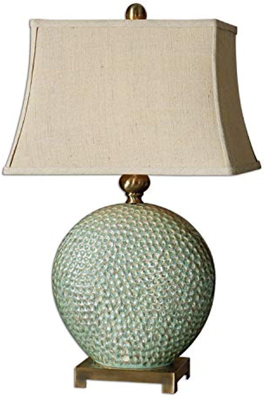 JINSH Home Amerikanische keramische keramische keramische Tischlampe Schlafzimmer Nachttisch Wohnzimmer Studie beunruhigt dekorative Tischlampe B07JNRQMTY | Offizielle  0179b5