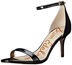 Two-piece pump featuring closed heel cup with slender adjustable ankle strap Logoed footbed Rounded toe