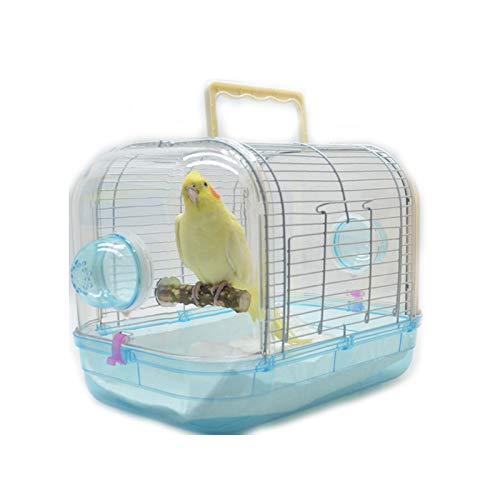TWW Vögel Und Papageien Sind Atmungsaktiv Und Tragbar, Um Mit Einem Käfig Zum Transport Der Tragbaren Käfigbox Auszugehen, Stark Und Langlebig,Blau