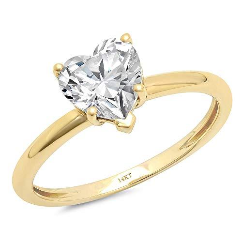 2.10 ct Brilliant Heart Cut Statement Classic Designer Solitaire Anniversary Engagement Wedding...