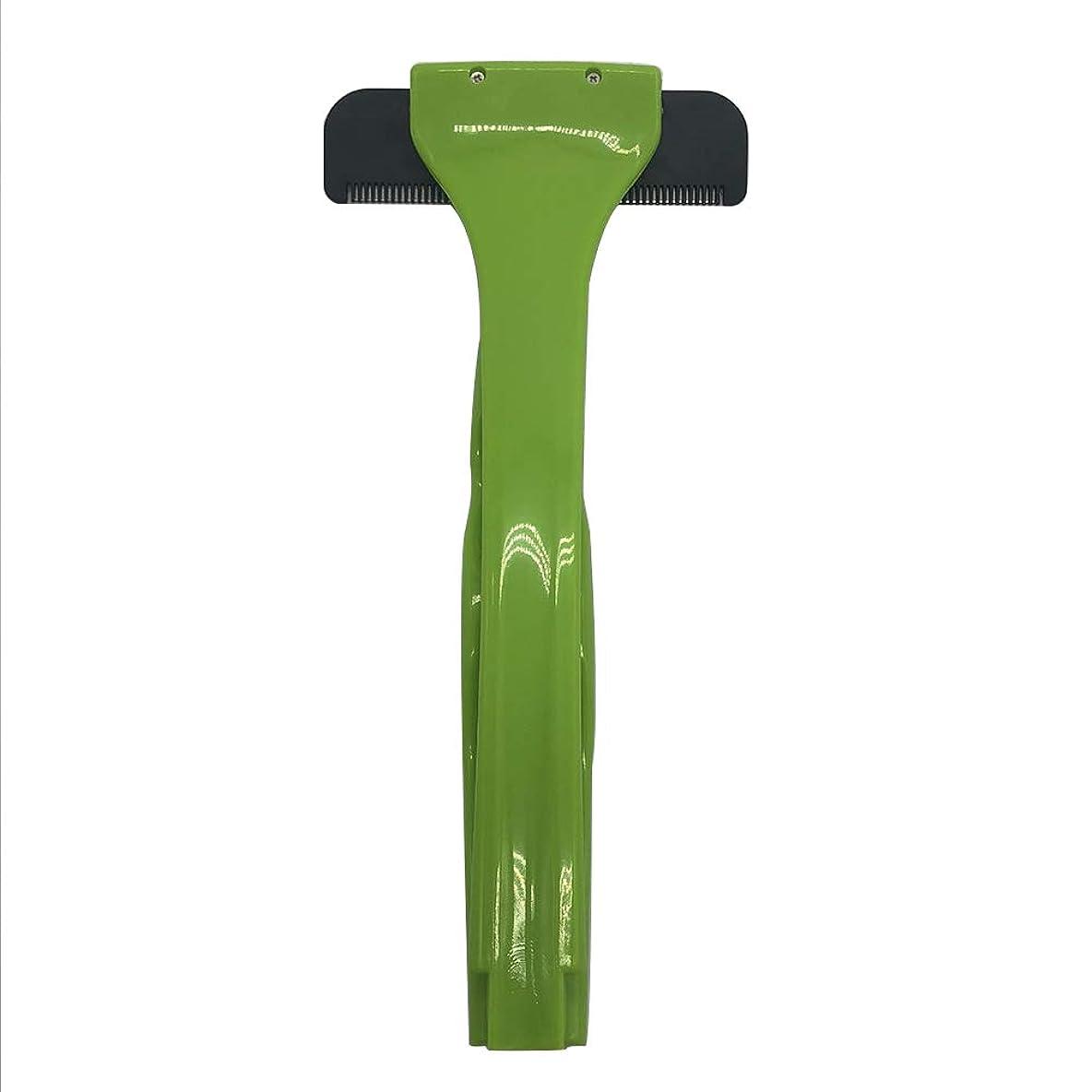 生態学発動機病的バックヘアーボディシェーバーかみそり、2019年更新バージョン拡張滑走剃刀安全スリップ防止ハンドル付きスリップ防止ハンドル