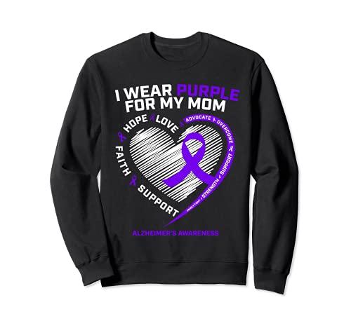 Purple Alzheimers productos de conciencia mamá regalos hombres mujeres Sudadera