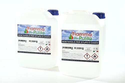 20 litri Bioetanolo MADE IN ITALY tuttobioetanolo.it (2 taniche da 10 lt)