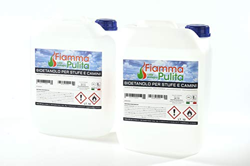 20 litri Bioetanolo MADE IN ITALY tuttobioetanolo.it (2 taniche da 10 lt)