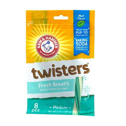 Arm & Hammer Twisters Dental Treats for Dogs | Dental Chews Fight Bad Breath, Plaque & Tartar without Brushing | Available in Multiple Flavors and Sizes