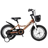 Kids' Bikes Cycling Children's Bicycle Kindergarten Stroller Anti-Slip Bicycle Children of All Heights Kids' Bikes & Accessories (Color : Gold, Size : 14inches)