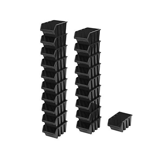 Contenitori impilabili per scaffali da magazzino, 20 pezzi, 19,5 x 12 x 9 cm, 1,5 l