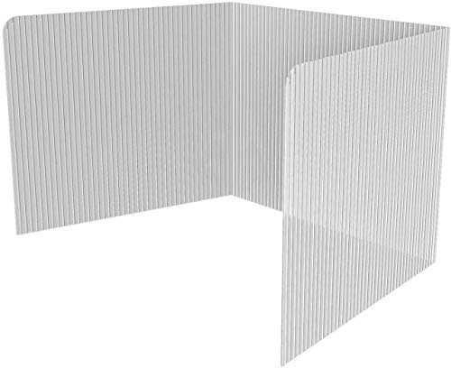 𝐏𝐚𝐜𝐤 𝐨𝐟 𝟐𝟎 𝐏𝐥𝐚𝐬𝐭𝐢𝐜 𝐄𝐚𝐬𝐲 𝐭𝐨 𝐃𝐢𝐬𝐢𝐧𝐟𝐞𝐜𝐭 Classroom Privacy Shields for Student Desks - Privacy Folders for Students - Test and Desk Dividers - 45.35 x 13.5 Inch