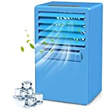 DRGRG Air conditioner Evaporative Coolers Usb Portable Air Conditioner Fan, Small Personal Quiet Desk Fan, 3 Speeds, 4 Hour Timer, Power-Off Protection, Spray Refrigeration For Outdoor, Room