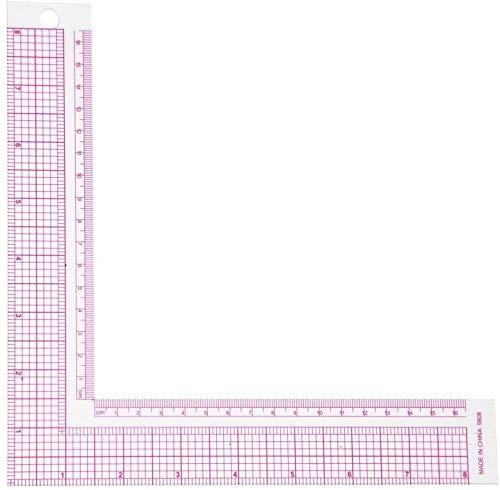 裁縫定規L型ルーラー定規正方形90度縫製メジャープロフェッショナルテーラークラフトツール(5808)