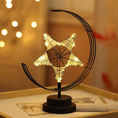 LJUCTD Led Mädchen-Herz-Schmiedeeisen-Nachtlicht-Lampe Stern-Licht-Dekoration-Licht USB-Schlaf-Licht