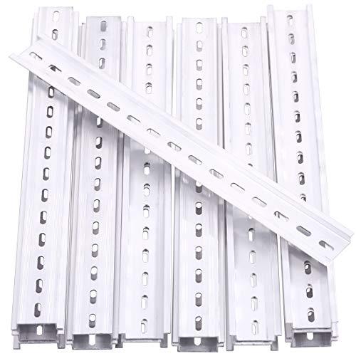 Keadic 15Pcs DIN Rail Slotted Aluminum RoHS Assortment Kit, 12 Inches Long 35mm Wide 7.5mm High