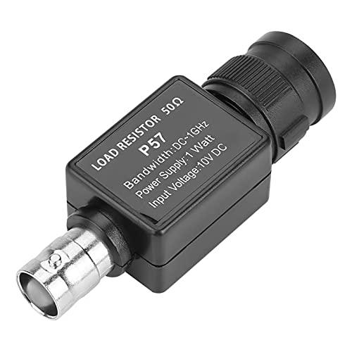 Adaptador BNC, P57 50ohm BNC a BNC Hembra 50KY Q9 Adaptador Enchufe a través del conector Terminator Accesorios Negro
