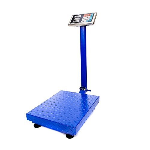 TUFFIOM 660lbs Weight Electronic Platform Scale,Digital Floor Heavy Duty Folding Scales,Stainless Steel High-Definition LCD Display,Perfect for Luggage Shipping Mailing Package Price (Dark Blue)