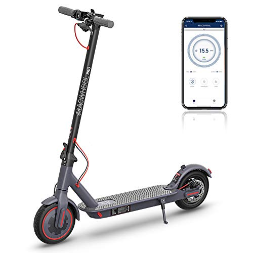 """Macwheel MX PRO Electric Scooter, 25 Miles Long Range Battery, Powerful 350W Motor, Max Speed up to 15.5mph, 8.5"""" Airless Tires for Comfortable Commute and Travel"""