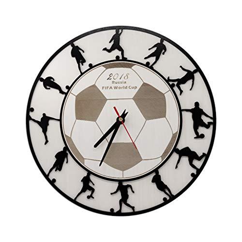 ZQ HOME Pendules murales Personnalisé Sport ThèMe Horloge CréAtif Football Basket-Ball Personnalité Personnalité éTudiant Chambre Horloge Murale Muet Horloge Murale Batterie