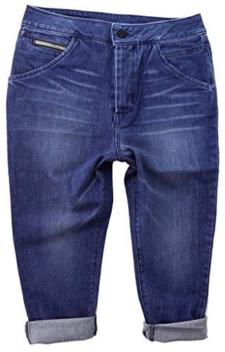 Rockstar Sushi Women's Capri Faded Blue Medium Wash Capri Jeans (28)