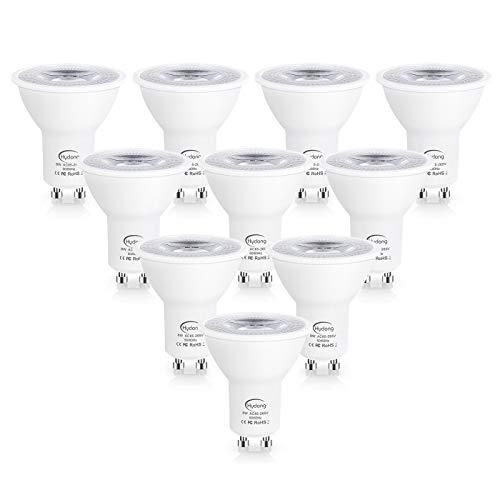 GU10 LED Kaltweiss 8W Reflektorlampe Nicht Dimmbar 720 Lumen LED Lampe Ersatz für 70W Halogenlampen, 6000K, 120° Abstrahlwinkel Spotlight, AC 85V-265V, 10 Stück