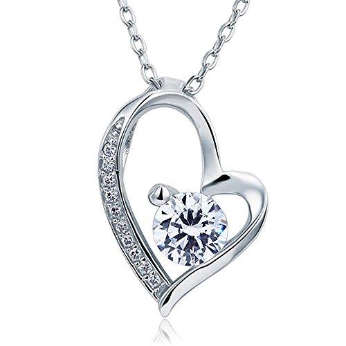 Mikikie in argento Sterling 925, con ciondolo a forma di cuore, per damigella d'onore