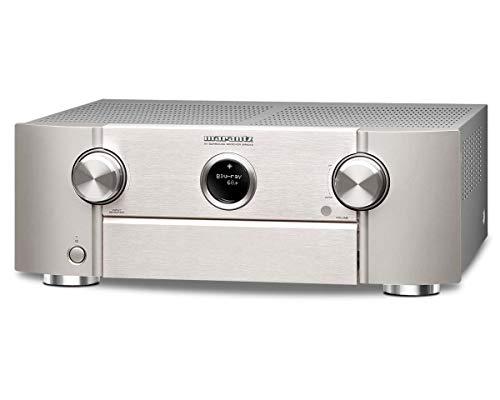 Marantz SR6013 9.2-Kanal Full 4K Ultra HD Netzwerk-AV-Surround-Receiver mit HEOS und Amazon Alexa Silber