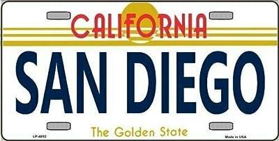 TNND Plaque d'immatriculation San Diego California State Background en métal pour Plaque d'immatriculation 6x12