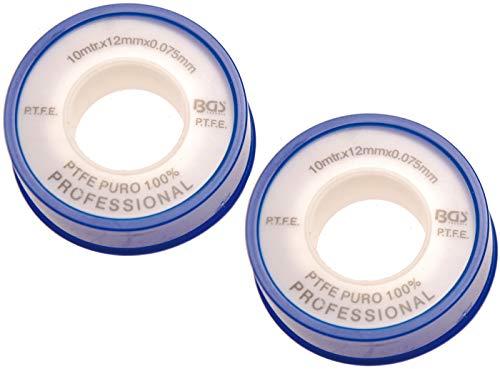 BGS 8582 | PTFE-Dichtband | 2-tlg. | 12 mm x 10 m | weiß | Gewindedichtband | Dichtungsband