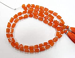 Jewel Beads Natural Beautiful jewellery natural gem stone top quality carnalian step cut cutting faceted nuggets beads complete strand 14 inches mix size Code:- JBB-35181