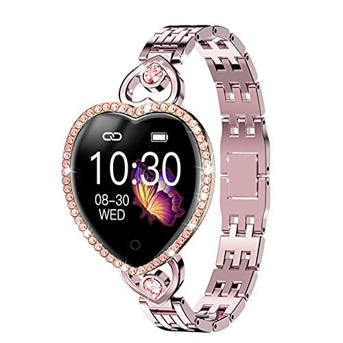 YXJ Mujer Smart Watch Pulsera Aptitud Pulsera T52s Reloj Ritmo Cardíaco Seguimiento Monitor,A