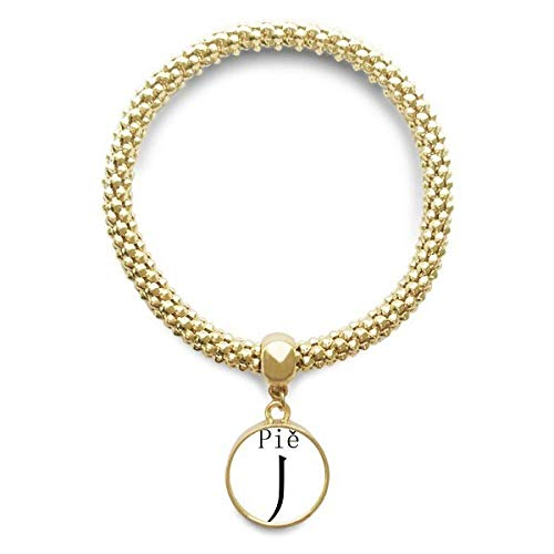 DIYthinker Womens Chinese Character Component Pie Golden Bracelet Round Pendant Jewelry Chain