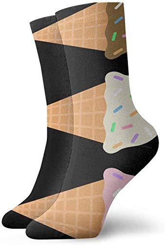 Tammy Jear Ice Creem Short Crew Socks Dress Socks Chaussettes de sport
