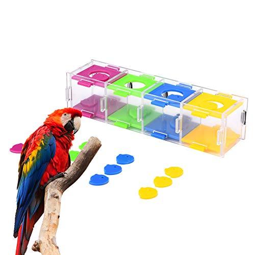 Vogeltraining Speelgoed, huisdieren Kleurrijk Interessante vogels Intelligentie Training Interactief puzzelspel voor papegaaien Parkietgrasparkiet