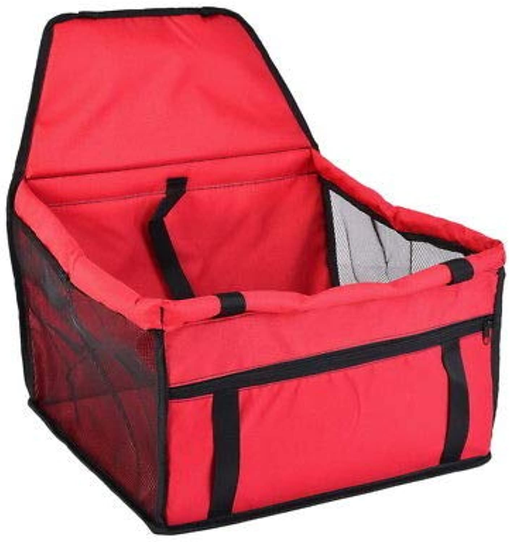 FidgetFidget Pet Dog Booster Car Seat Safe Basket Puppy Travel Auto Carrier Bag Supply Newly Red 40  30  25cm