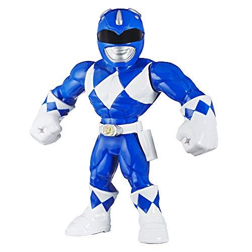 Playskool Heroes Mega Mighties Power Rangers 25 cm große Blauer Ranger Figur, Spielzeuge zum Sammeln, Kinder ab 3 Jahren