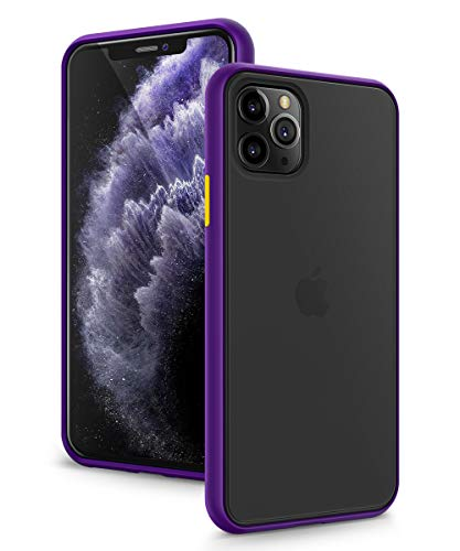 MOBOSI Designed for iPhone 11 Pro Case 5.8 Inch 2019, Translucent Matte Back with Soft Edges,...