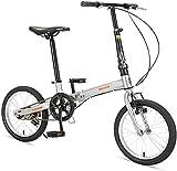 RVTYR 16' Falträder, High-Carbon Stahl Leichtgewichtler Faltrad, Mini Single Speed...
