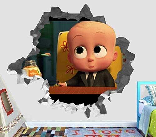 Wandaufkleber Boss Baby Smash Wandaufkleber 3D Art Deco Wandaufkleber Vinyl Smash