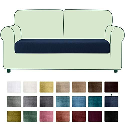 CHUN YI 1 Stück Sofa Sitzkissenbezug Stretch Sitzkissenschutz Elastischer Husse Überzug für Sofa Sitzkissen rutschfest Stoff Möbelschutz(2-Sitzer, Blau)