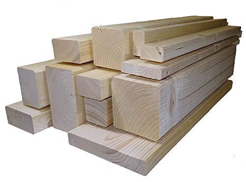 Rahmenholz gehobelt unbehandelt Fichte Breite/Höhe/Länge 40mm x 60mm x 2000mm Latten Kantholz Zaun Garten Holz Brett Balken Leiste Carport