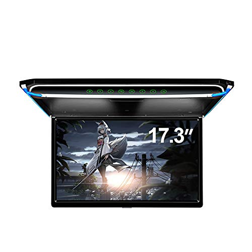 "17.3"" Car Overhead Flip Down Monitor Screen Dispaly 1080P Video HD Digital TFT Screen Wide Screen Ultra-Thin Mounted Car Roof Player HDMI IR FM USB SD"