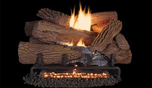 Read About Superior Fireplaces MNF30 VF 30 LP Ember Bed Electric Burner w/ 36 Mossy Oak Logs