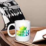Philly Philly White Ceramic Coffee Mug Tea Cup Fun Novelty Gift 14 Oz